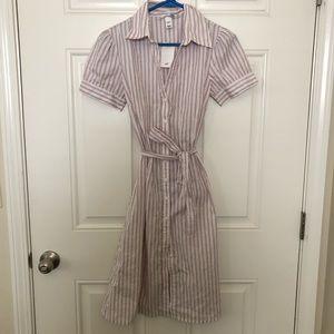 H&M Striped Shirt Dress Size 6